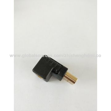 China Male HDMI to female HDMI and fixed 90-degree turn connector adapter made in China