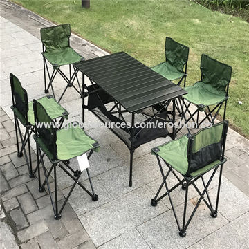 China Camping picnic table and chair set in 7pcs, available in ...