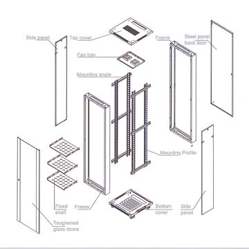 China Data Center Used Equipment Rack Cabinet 27u Standard