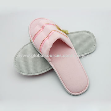44795b04ac3d98 ... China Wholesale washable customized cotton terry open toe hotel slipper