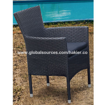 China 4 Piece All Steel Kd Knockdown Rattan Garden Furniture Sale