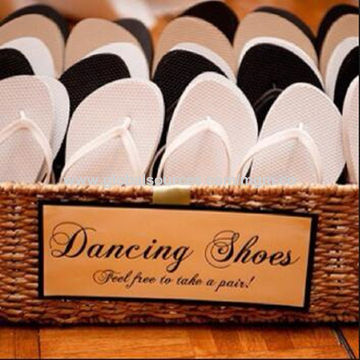 China Wedding Shoes Dancing Flip Flops Creative Idea for Wedding ...