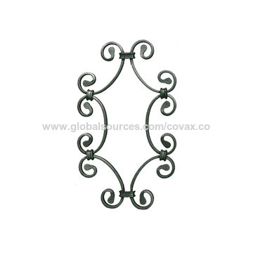 China Wrought Iron Scroll/Steel Fence Flower Panel/Metal Ornamental ...