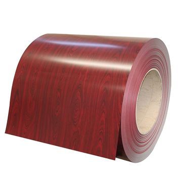 China Wood Grain Steel Prepainted Coil With Wood Pattern Design