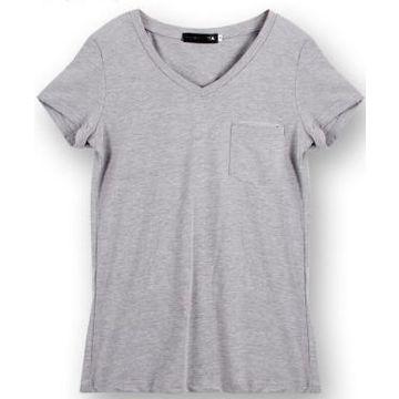 c1e1160af567 China Women's V-neck Plain T-shirt, made of oganic cotton on Global ...