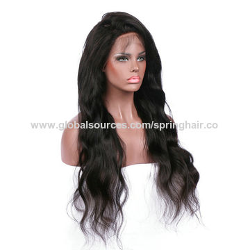 ... China Lace Front Wigs Human Hair Wavy Non-remy Hair Malaysian With Side  Part For ... 29a5cff719