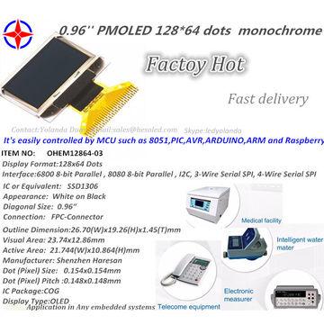 China 128x64 OLED I2C 0 96