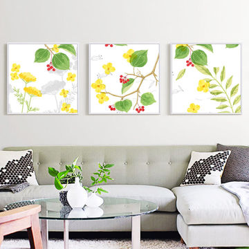 ... China High quality modern canvas pop flower art oil paintings with outer frames for home decoration ...