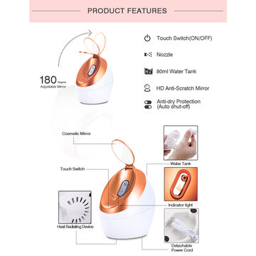 China Portable Nano Ionic Facial Steamer for Face Moisturizing