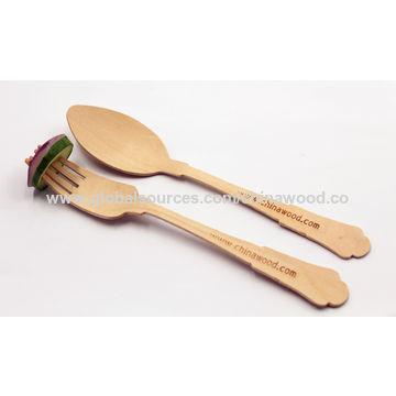 China Elegant Compostable Wooden Forks on Global Sources