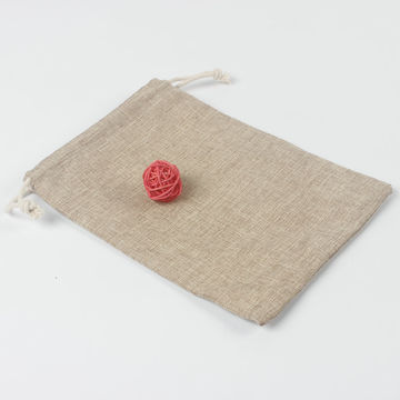 ... China Customized hemp gift hessian jute wine drawstring packaging bag ...