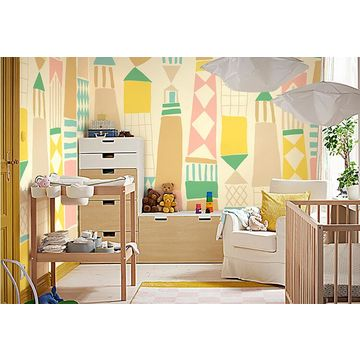 ... China Gris* Geometrical Wall Stickers Peel And Stick Large Wall Mural Kids  Room Decor Wall ...