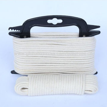 Cotton Clothesline Rope New China High Strength Natural Color Flat Rope 60% Cotton Cords