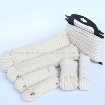 China High Strength Natural Color Flat Rope 100 Cotton Cords