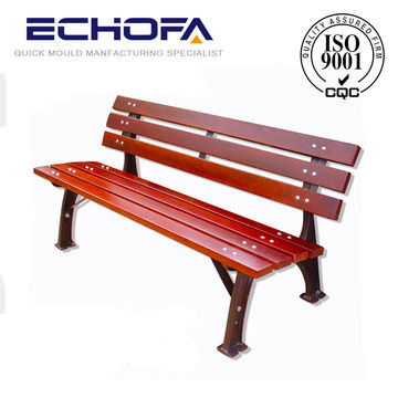 China Outdoor Bench Cast Iron Bench Wooden Park Bench Outdoor