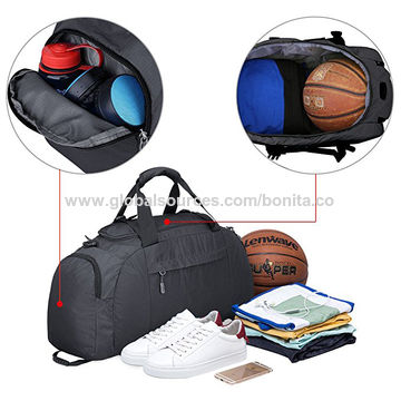 6bd0a98ce ... China 3-Way Travel Duffel Backpack Luggage Gym Sports Bag with Shoe  Compartment