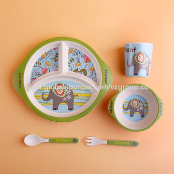 china baby plate bowl set dinnerware feeding set kids plate dishes