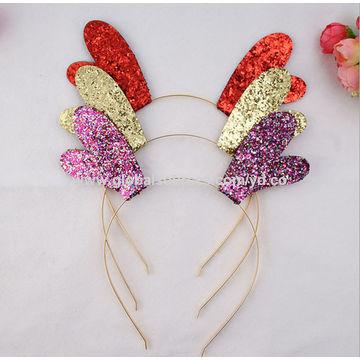 ... Hong Kong SAR Christmas hair accessories Xmas cat ears deer corn metal  band headband hair band ... 1bf1e700f23