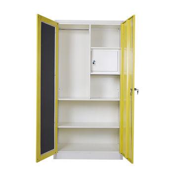 ... China China Mingxiu Steel Furniture 2 Door Clothing Steel Wardrobe/steel  Almirah