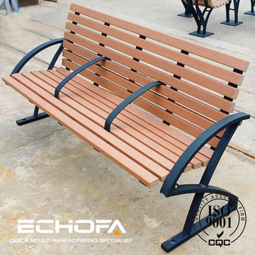 China Wooden Park Bench Plastic Wood Park Bench Cast Outdoor