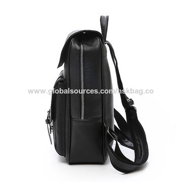 fce6d307ca ... China China Supplier Hot Selling High Quality Business Laptop PU Leather  Men s Backpack ...