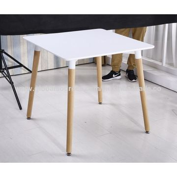 ... China Square Dining Table, Dining Room Tables With White Painting,  Solid Wood Legs ...