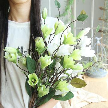 China magnolia artificial flowersmade of silkgreat for wedding china magnolia artificial flowersmade of silkgreat for weddinghomeparty mightylinksfo