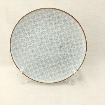 China Linyi new design ceramic dinner plate with pad printing