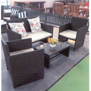 ... China 4pcs Outdoor Patio Furniture PE Wicker Rattan Sofa Set Deck Couch