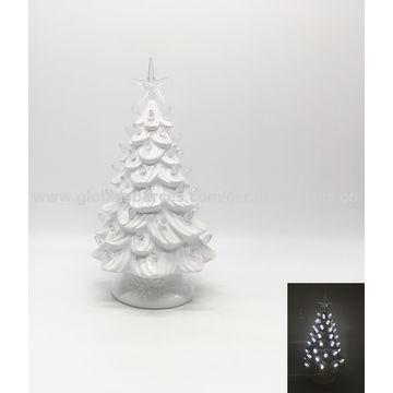 China Ceramics Christmas Trees Home Decoration Ceramics Led Light