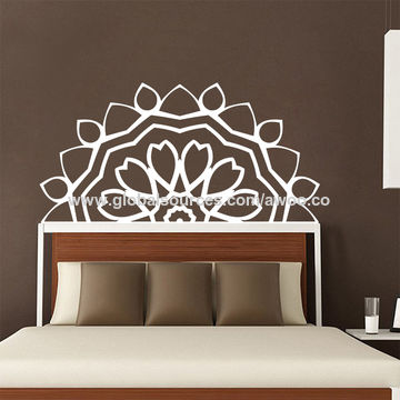 ... China Newest Lotus Meditation Namaste Mandala Decals Yoga Art Bedside  Wall Sticker Bedroom Home Decoration ...