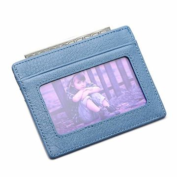 huge discount e69cd be750 China Leather wallet credit card case sleeve card holder with ID ...