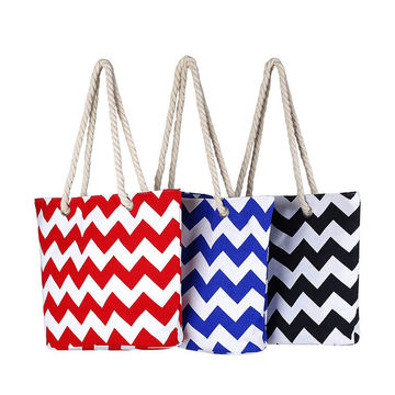 ... China Promotion custom printed fashion polyester tote bag shopping bag  beach bag 4534a40c5c353