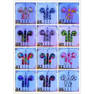 China High quality earphones with print flower painting