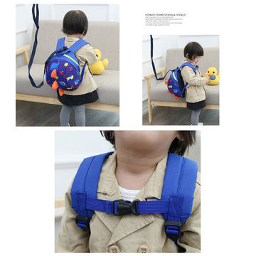 d4ebfd508b7e ... China Toddler Backpack Anti lost Band Kids Children Bag Dinosaur  Cartoon School Bag