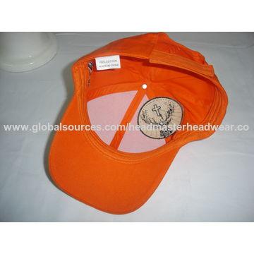 ... China Mid profile baseball cap with magic tape strap  bab06fb7b980