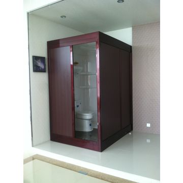 ... China 8mm Tempered Glass Shower Room With Shower And Toilet Complete  Bathroom Prefab Bathroom Pod ...
