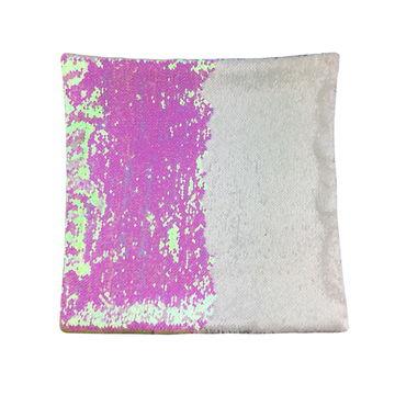 china wholesale sublimation print souvenir sequin pillow cover on