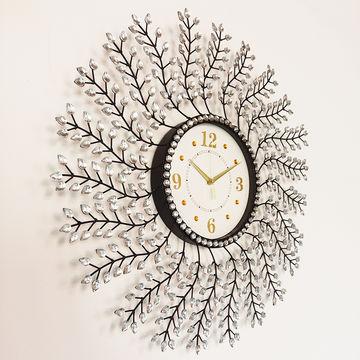 china venta al por mayor redonda cristalina blanca del reloj de