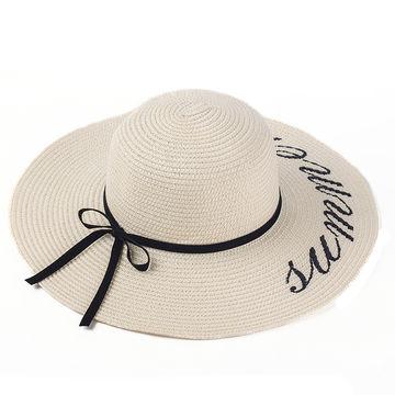 acdd5524351 ... China Women s hat summer oversized hat beach cap lady straw hat wide  brim ...