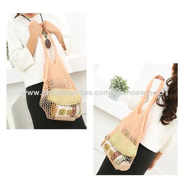 e763d4038ed cotton mesh shopping bag/ handbag , light weight ,