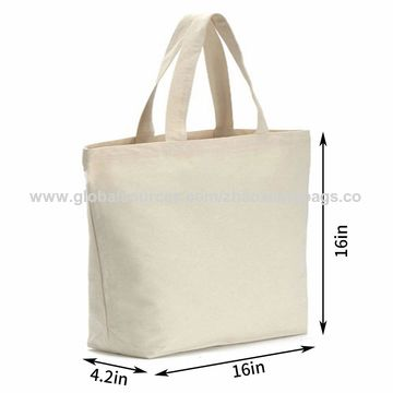 504a66a292c 12oz Heavy Natural Canvas tote bag Bottom Gusset,Tote shopping bag,Washable  grocery tote bag