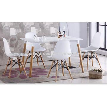 China Mesa de comedor blanca, tabla de madera, silla del MDF de los ...