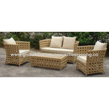 China Patio Sofa Set Prices Rattan Terrace Leisure Wicker Outdoor Furniture
