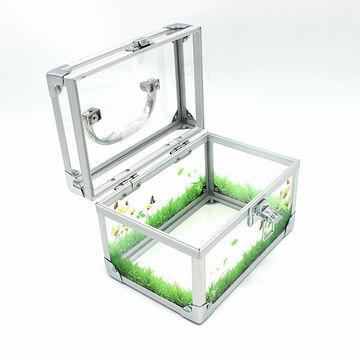 China Beauty Custom Clear Gift Storage Cosmetic Acrylic Makeup Box