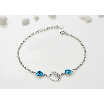 China Fashion simple cat S925 sterling silver bracelet