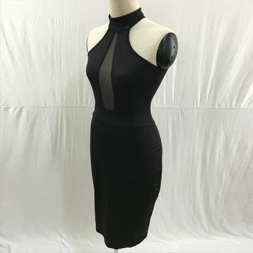 China Hot Fashion African Black Women Dress Club Wear Midi Bodycon