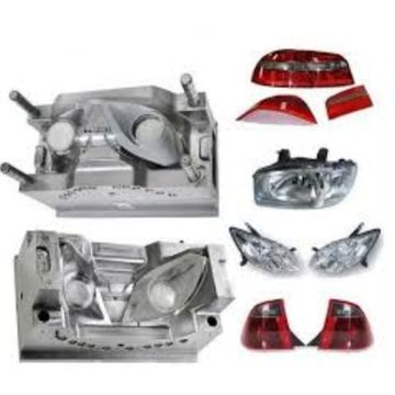 China Automotive Lighting Plastic Mould with Becu Inserts