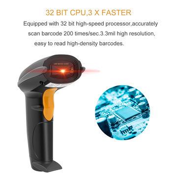 China USB Laser Handheld Barcode Scanner, 200 Scans/Sec High
