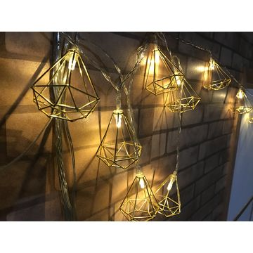 China 20 Led Motif Light Battery Oprated Decorative String Lights Indoor Wedding Festival Iron
